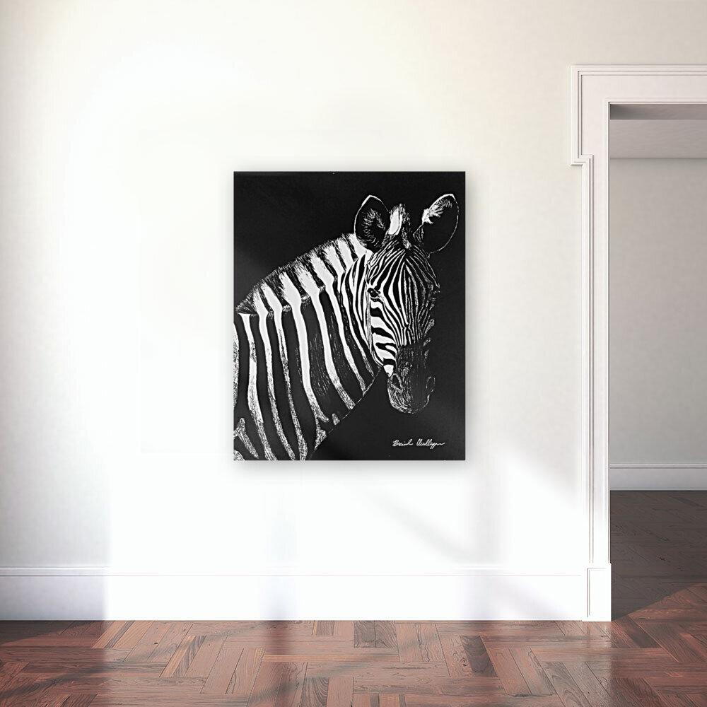 Zebra Portrait  Art