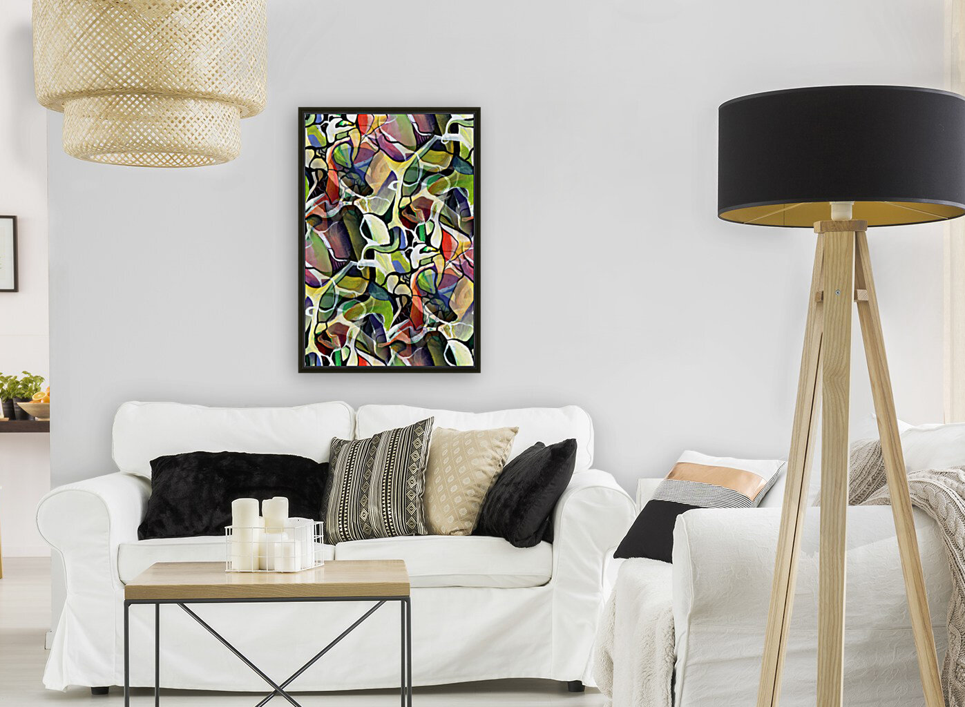 Linear Interlacing Expressionism Abstract  Art