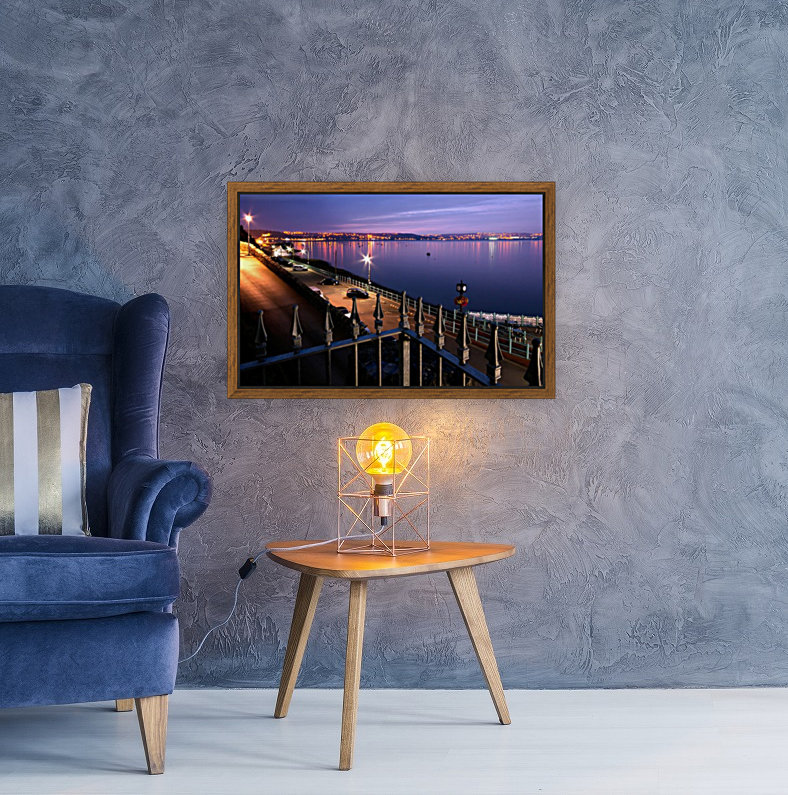 Swansea Bay at night with Floating Frame