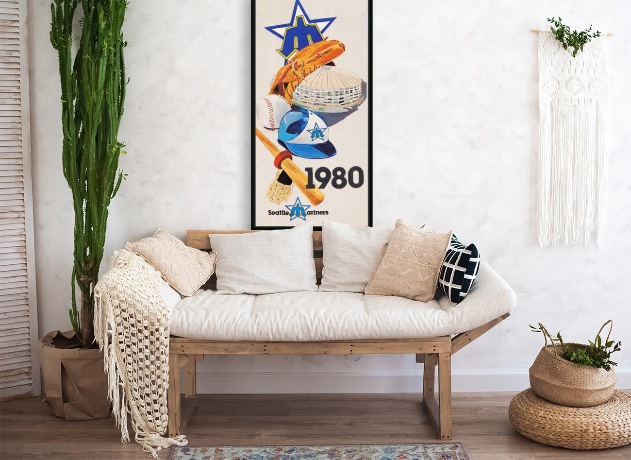 1980 Seattle Mariners Art Remix  Art