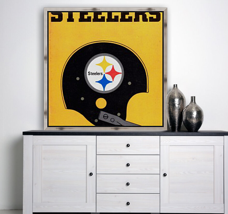 1968 Pittsburgh Steelers Helmet Poster  Art