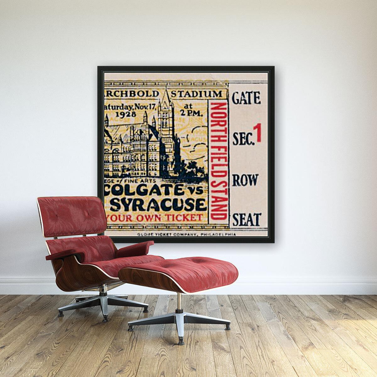 1928 Colgate vs. Syracuse  Art