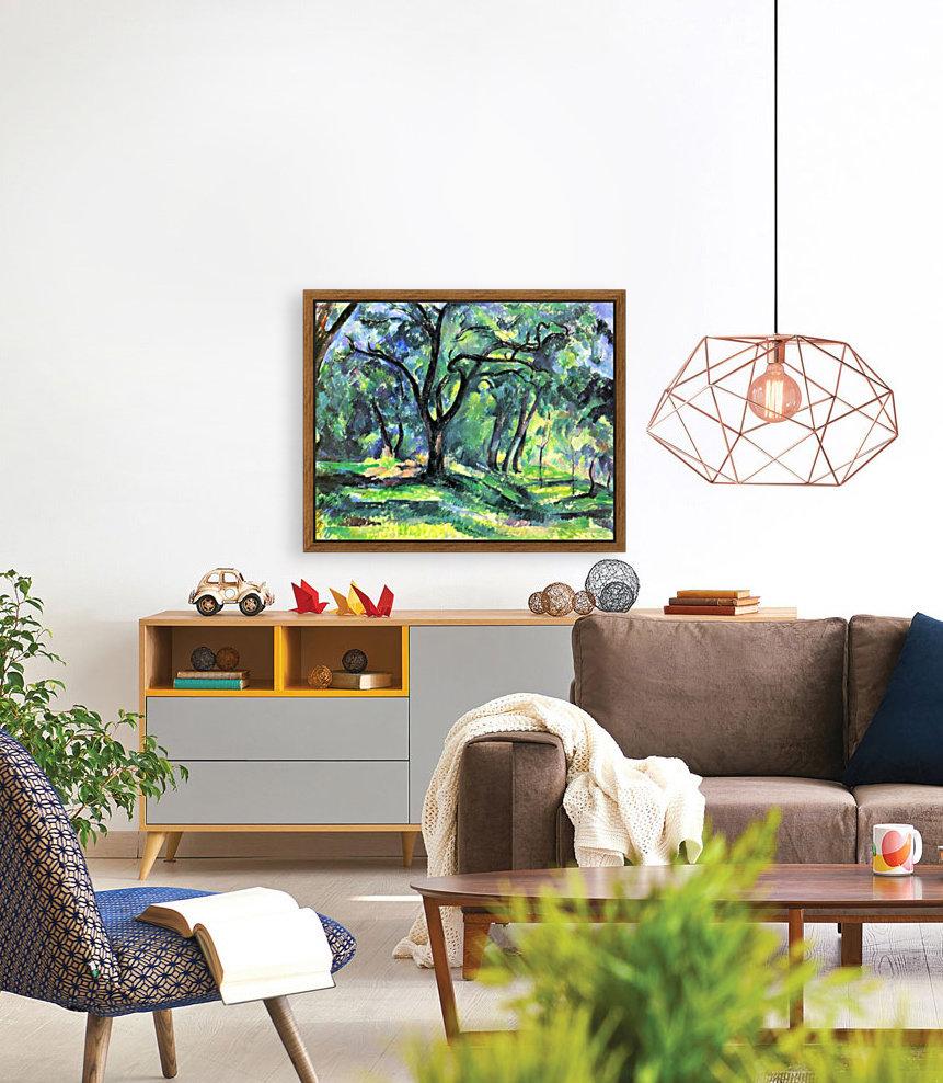 In the Woods by Cezanne  Art
