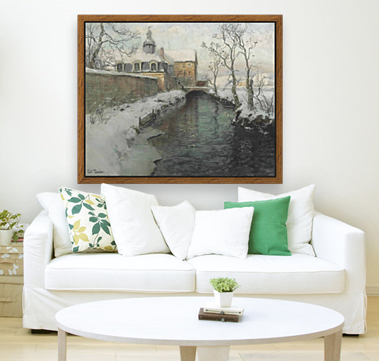 City wall with river during winter  Art