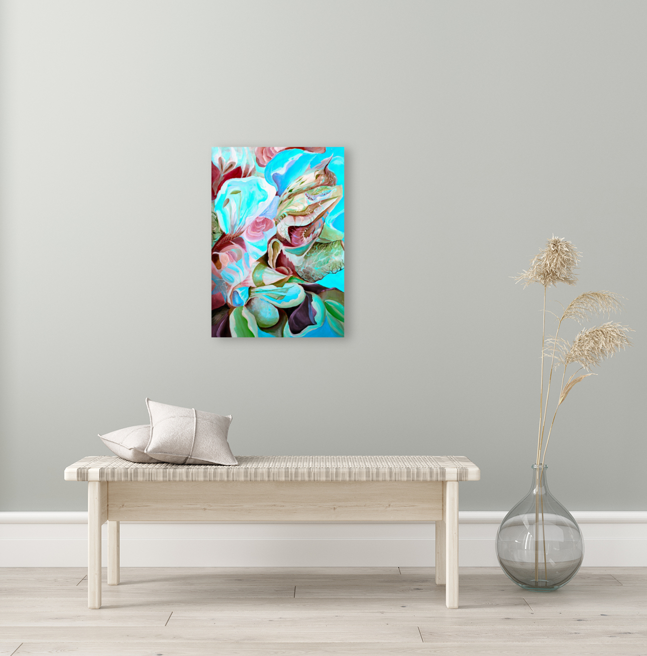 Realm of Tropical Exotic Nature Pattern  Art
