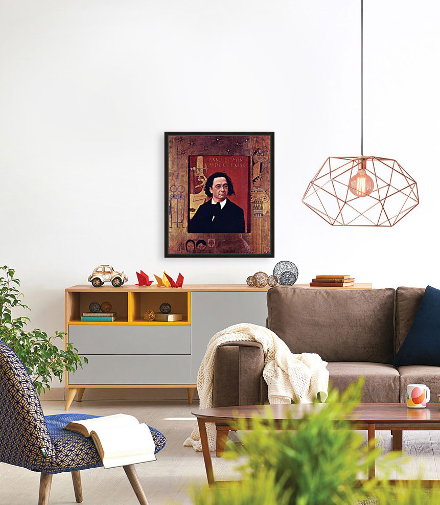 Joseph Pembauer by Klimt with Floating Frame
