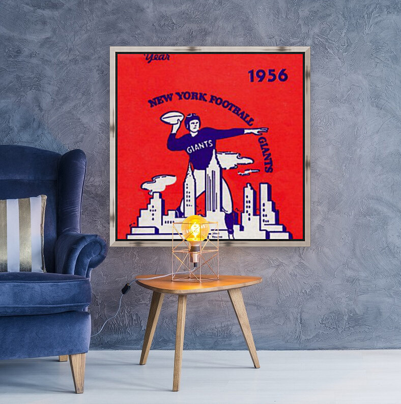1956 new york giants vintage nfl poster  Art