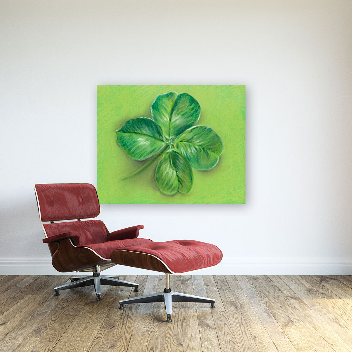 Lucky Four Leaf Clover with Floating Frame
