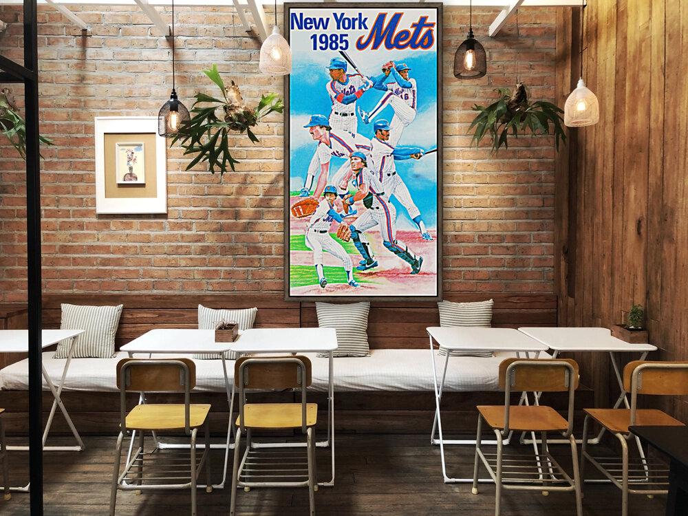 1985 new york mets baseball poster  Art