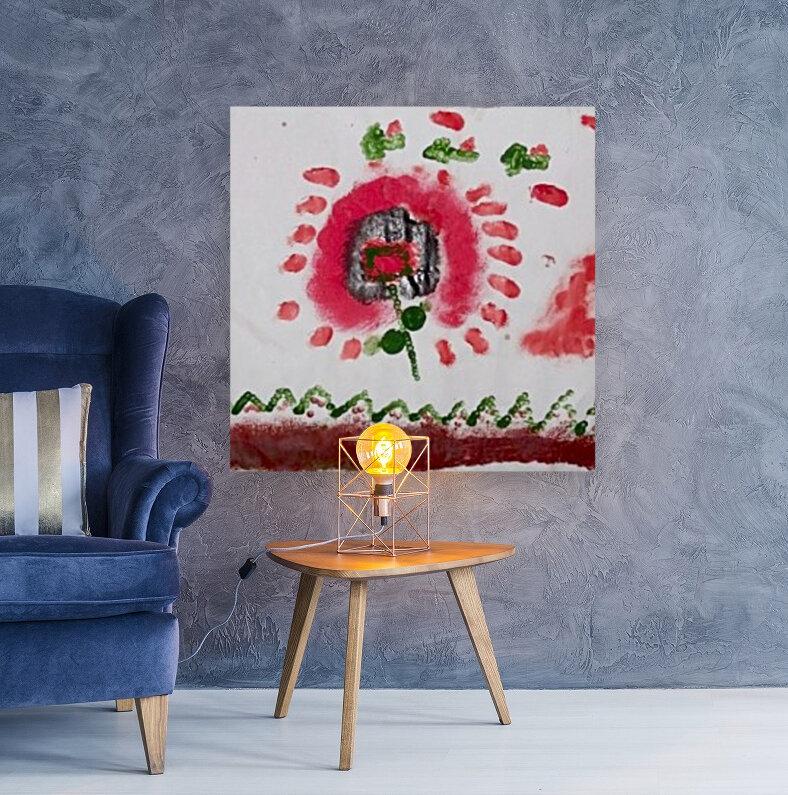 Myona red flower  Art