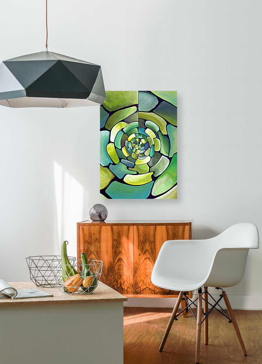 Art Deco_Green _Pattern_displate  Art