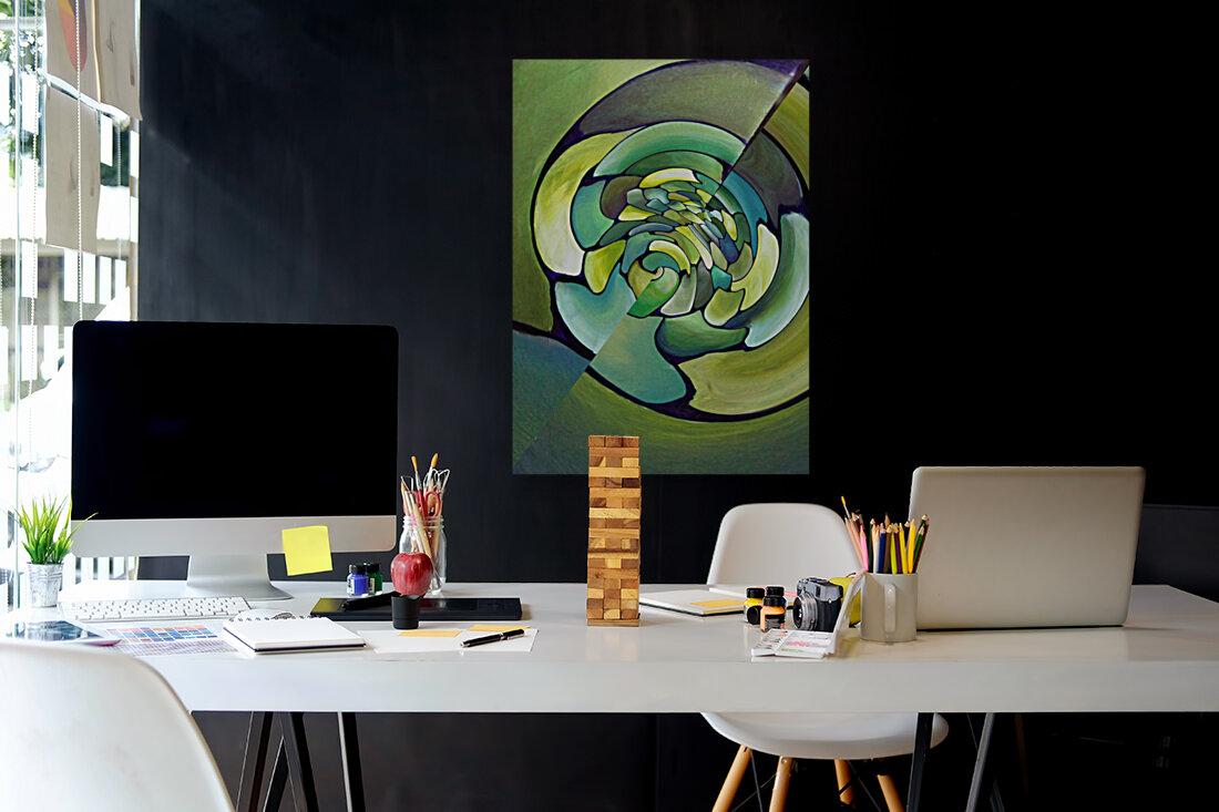 Art Deco_Green _Pattern_A  Art