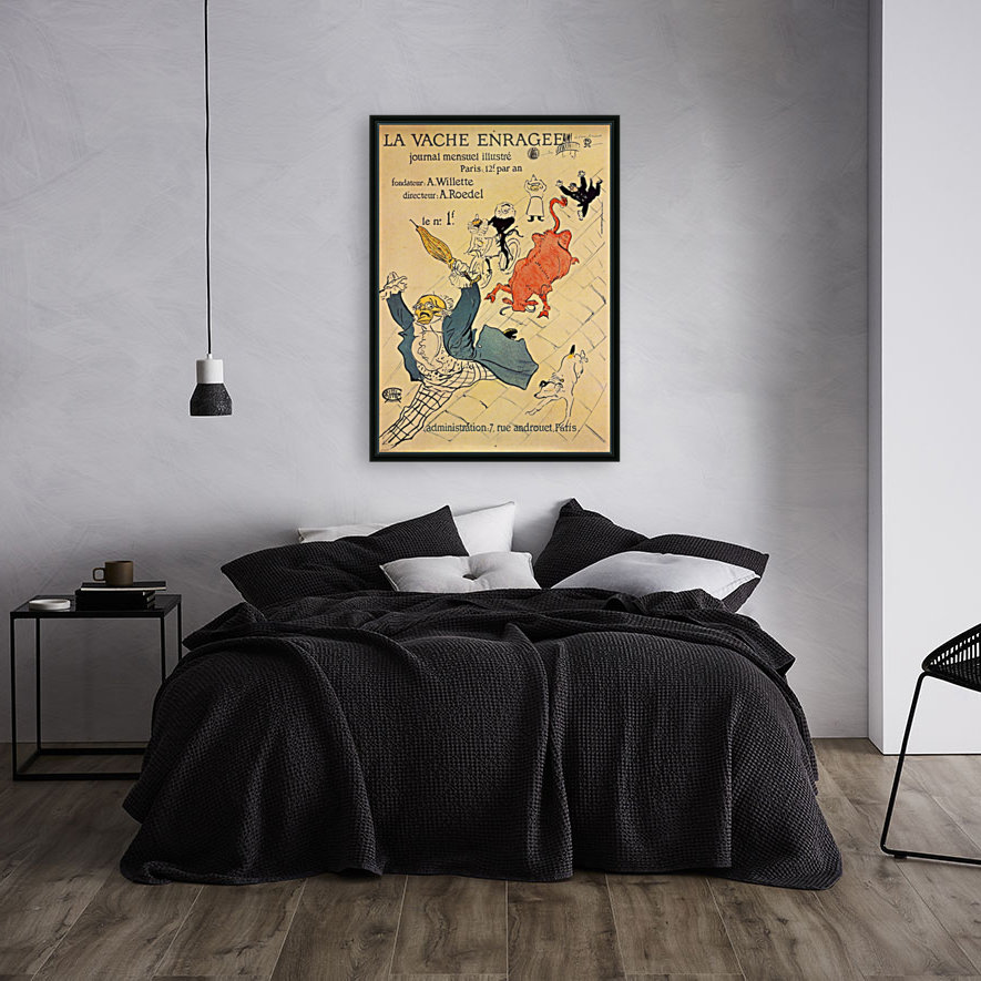 La vache enragee by Toulouse-Lautrec with Floating Frame