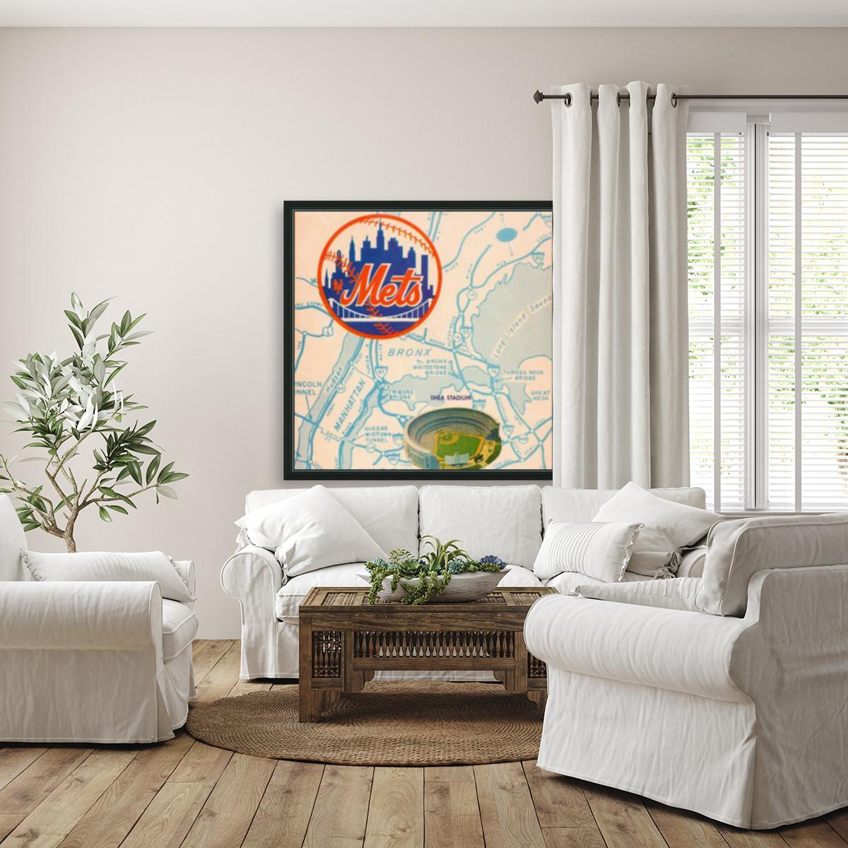 1967 new york mets vintage baseball scorecard poster wall art  Art