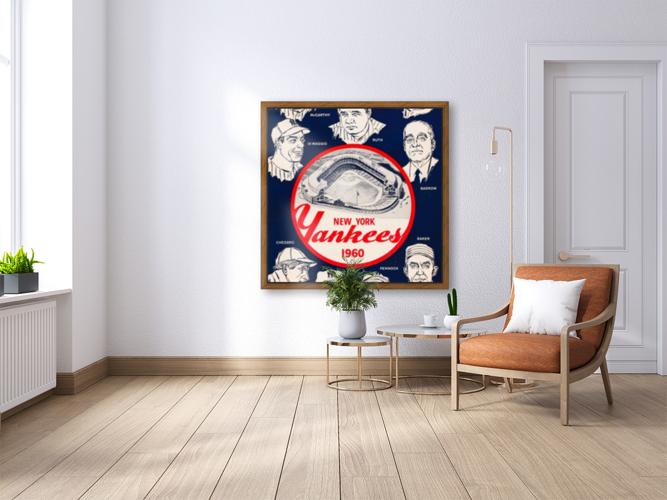 1960 New York Yankees In The Hall Of Fame Art  Art