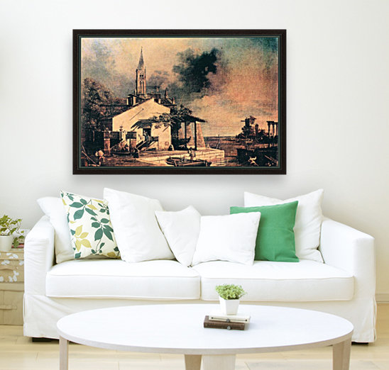 Lagoon landscape by Canaletto  Art
