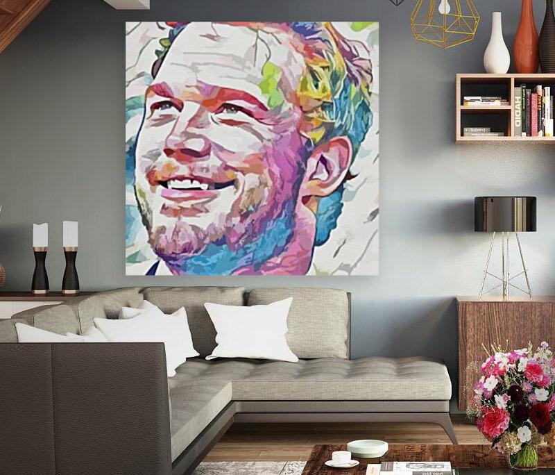 Chris Pratt - Celebrity Abstract Art  Art