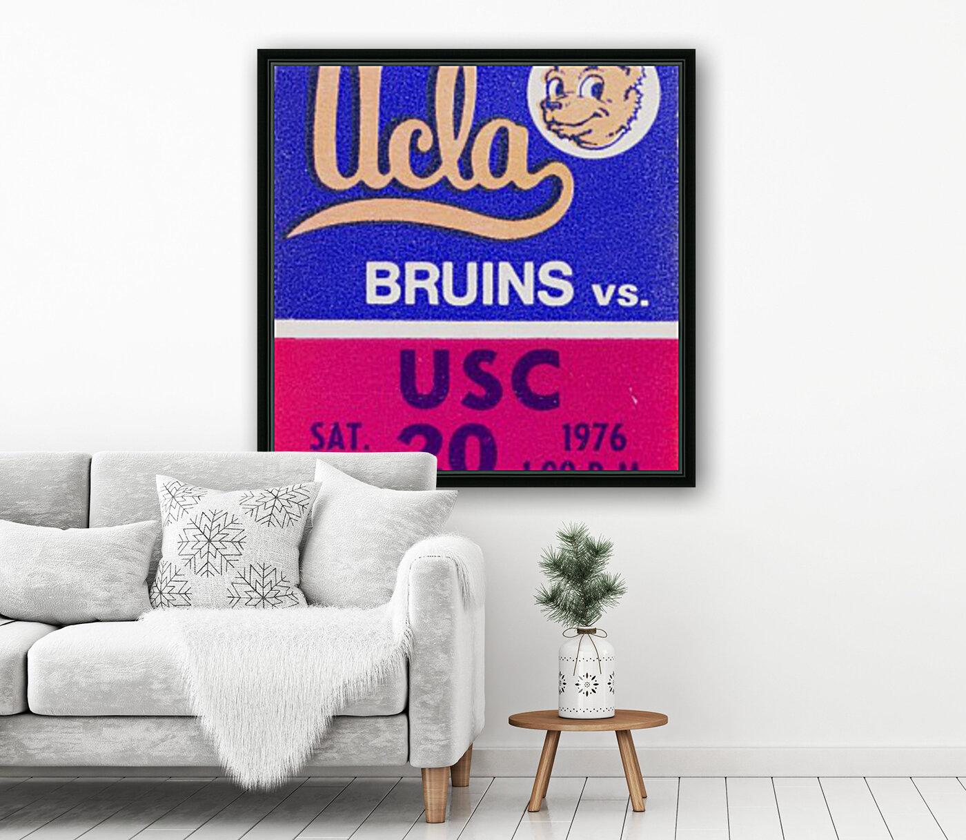 1976 college football usc ucla ticket stub  Art