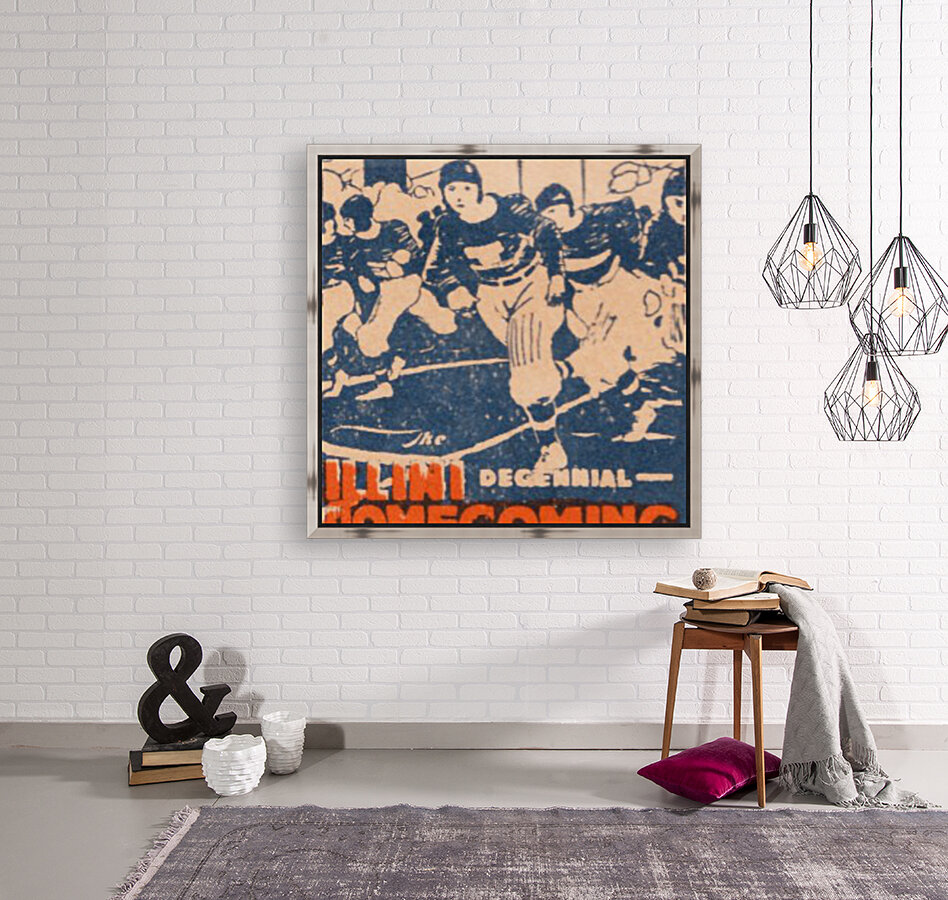 1920 illinois illini football homecoming art  Art