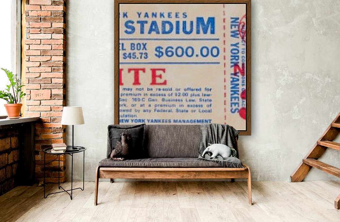1982 new york yankees season ticket $600  Art