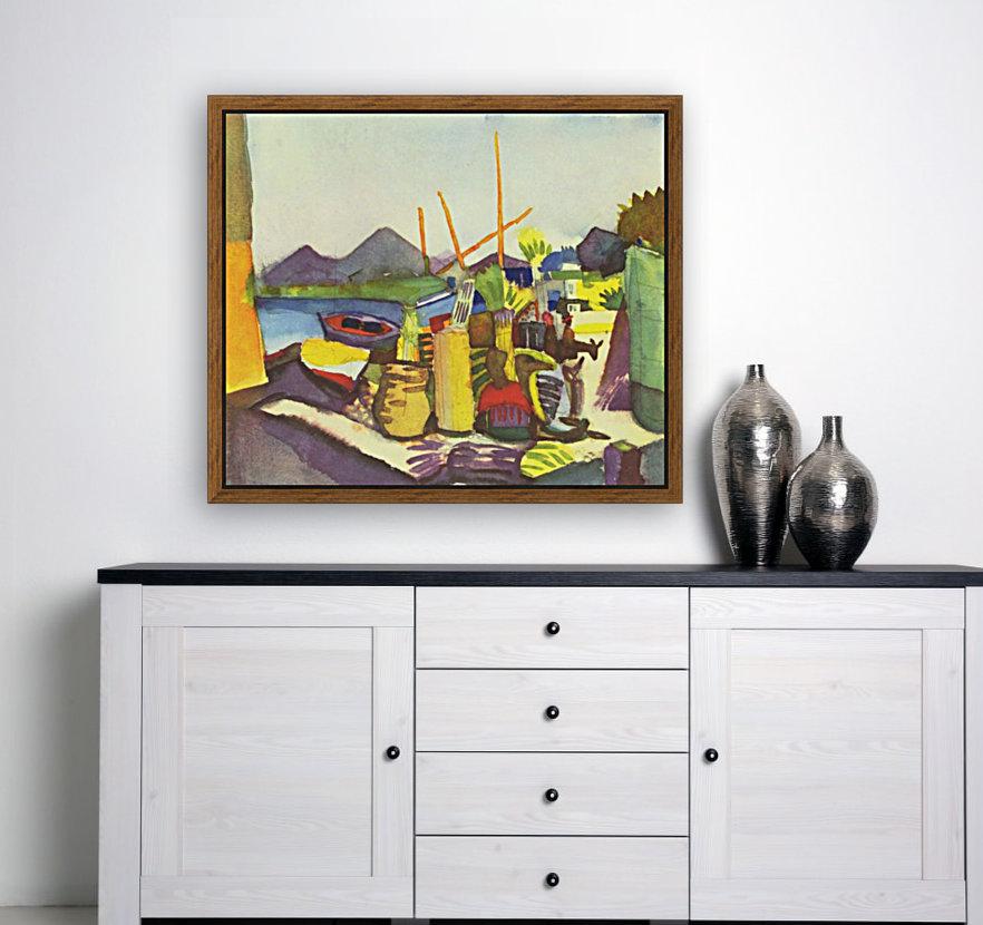 Landscape at Hammamet by Macke  Art