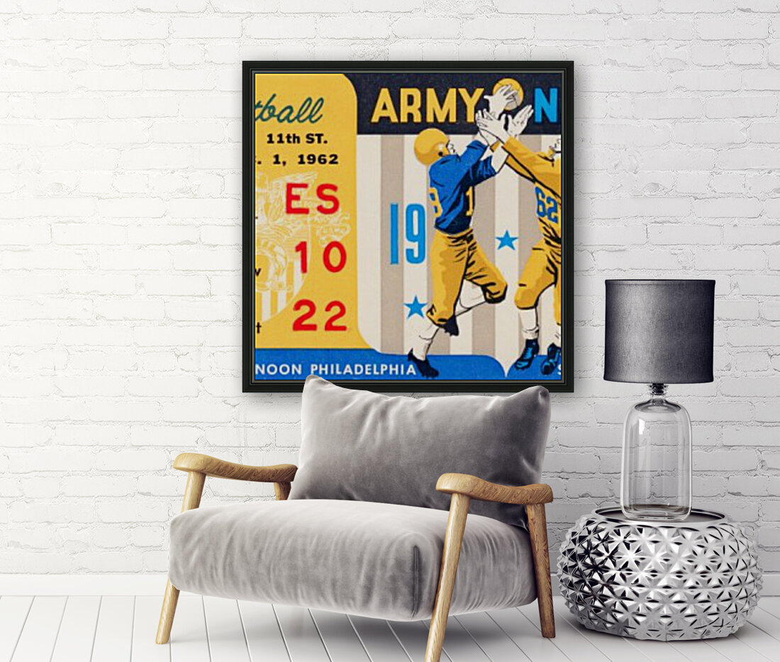 1962_Vintage College Football_Army vs. Navy_Municipal Stadium_  Art