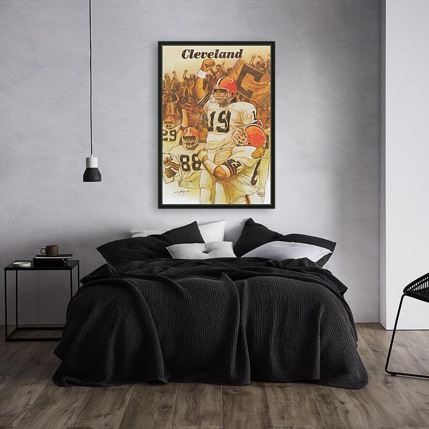vintage cleveland browns nfl art poster  Art