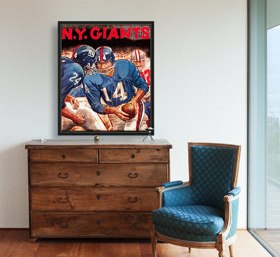 vintage new york giants nfl art poster  Art