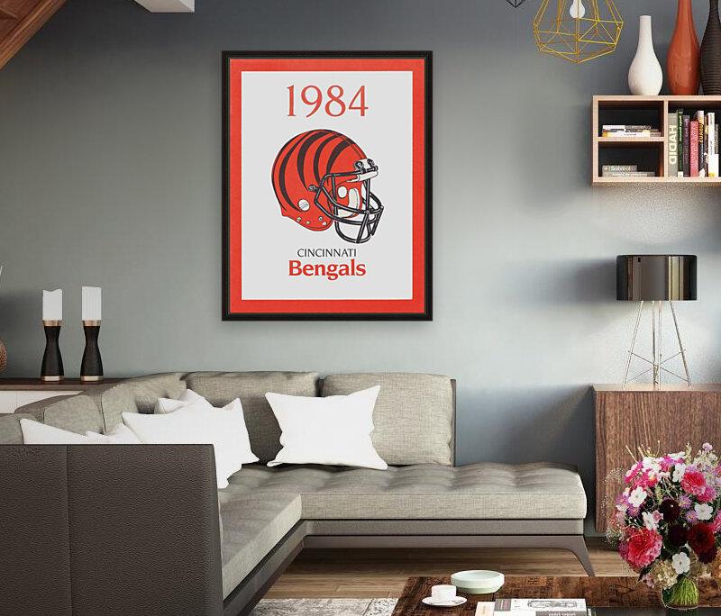 1984 cincinnati bengals retro helmet poster  Art