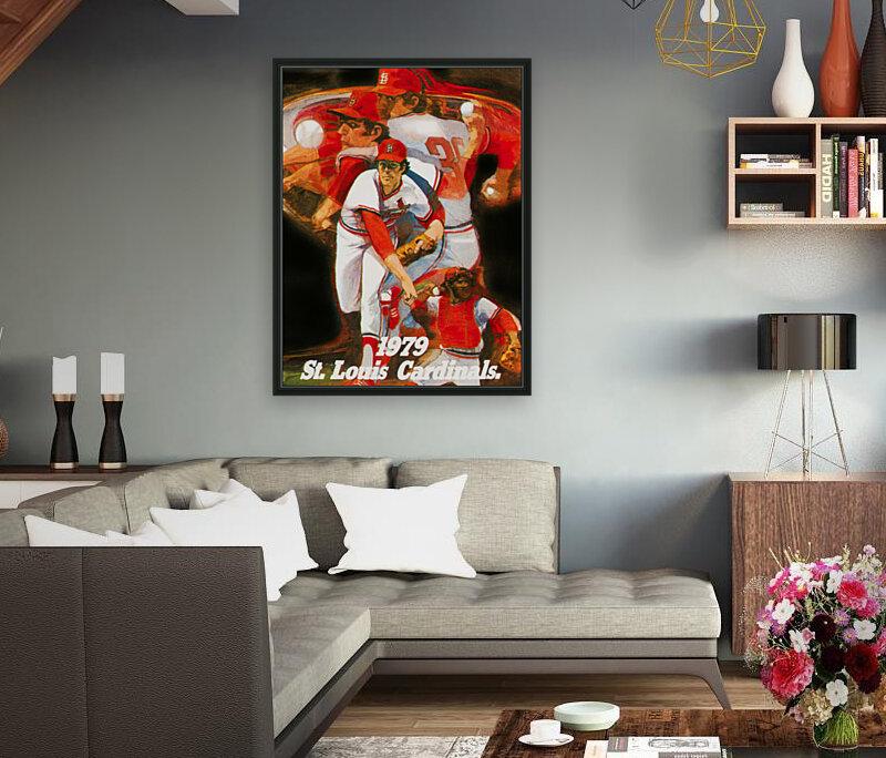 1979 st louis cardinals retro baseball poster  Art