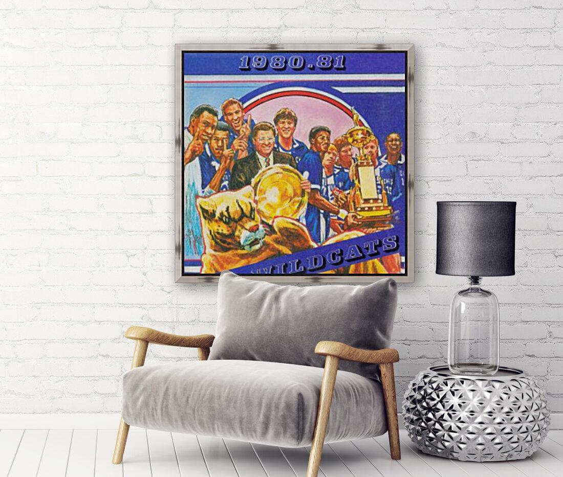 1980 kentucky wildcats basketball poster ted watts sports artist  Art