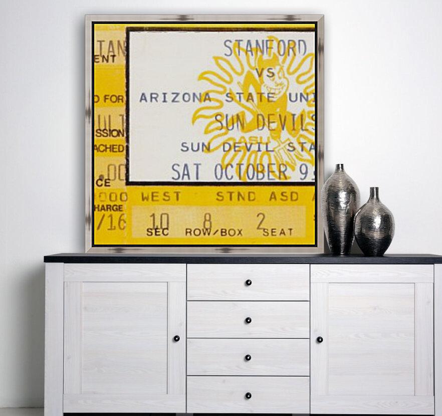 1982 arizona state sun devil college football ticket stub canvas sports wall art  Art