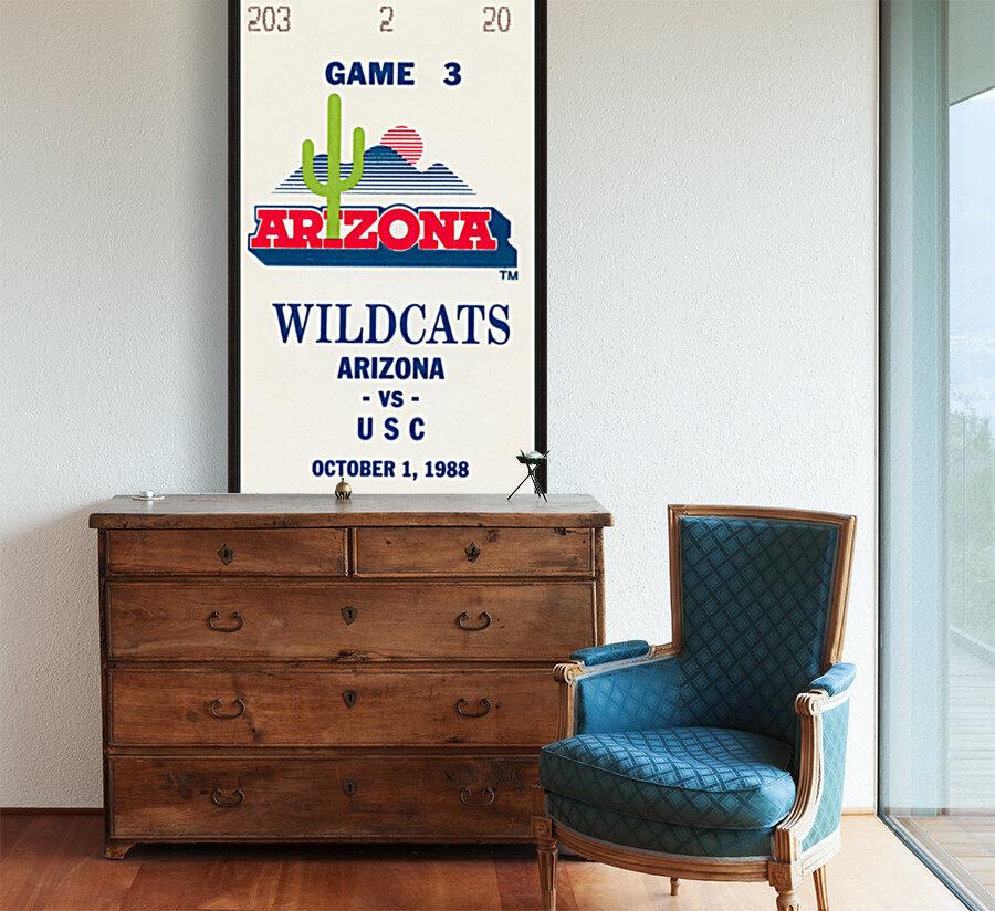 1988 arizona wildcats football vintage ticket stub canvas art  Art