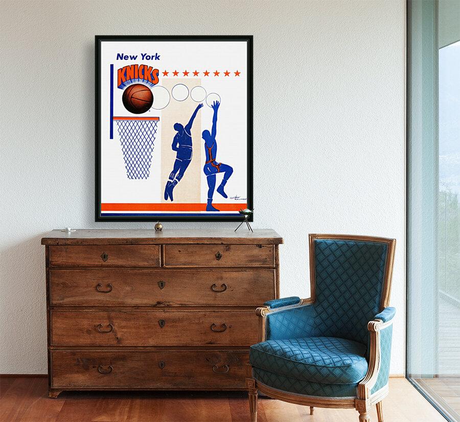 George Kalinsky Art Vintage New York Knicks Poster Reproduction Sports Art  Art