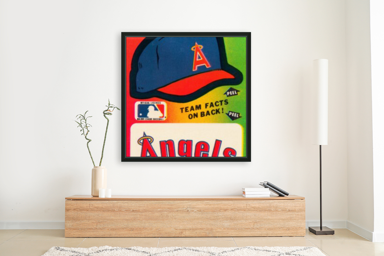 1983 fleer baseball sticker california angels poster  Art