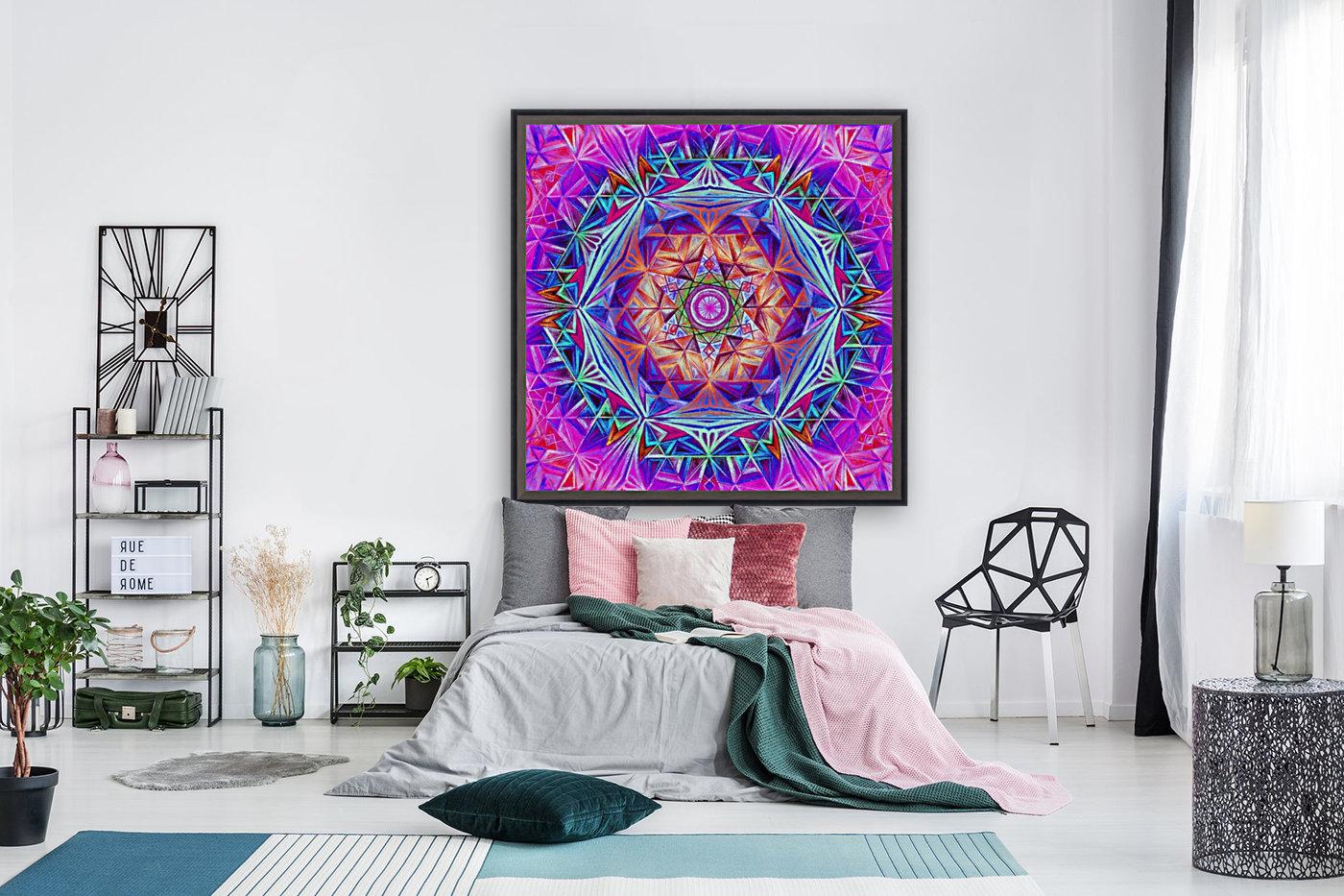Sacred Geometry Mandala Handdrawing  Art