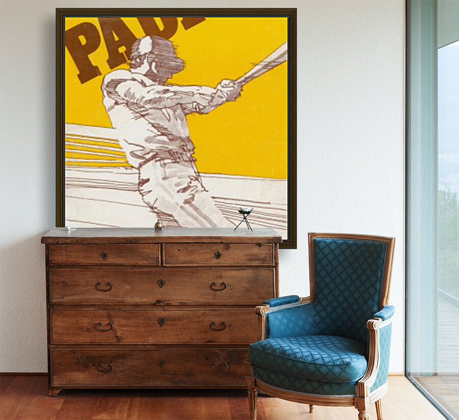 1974 san diego padres art reproduction  Art