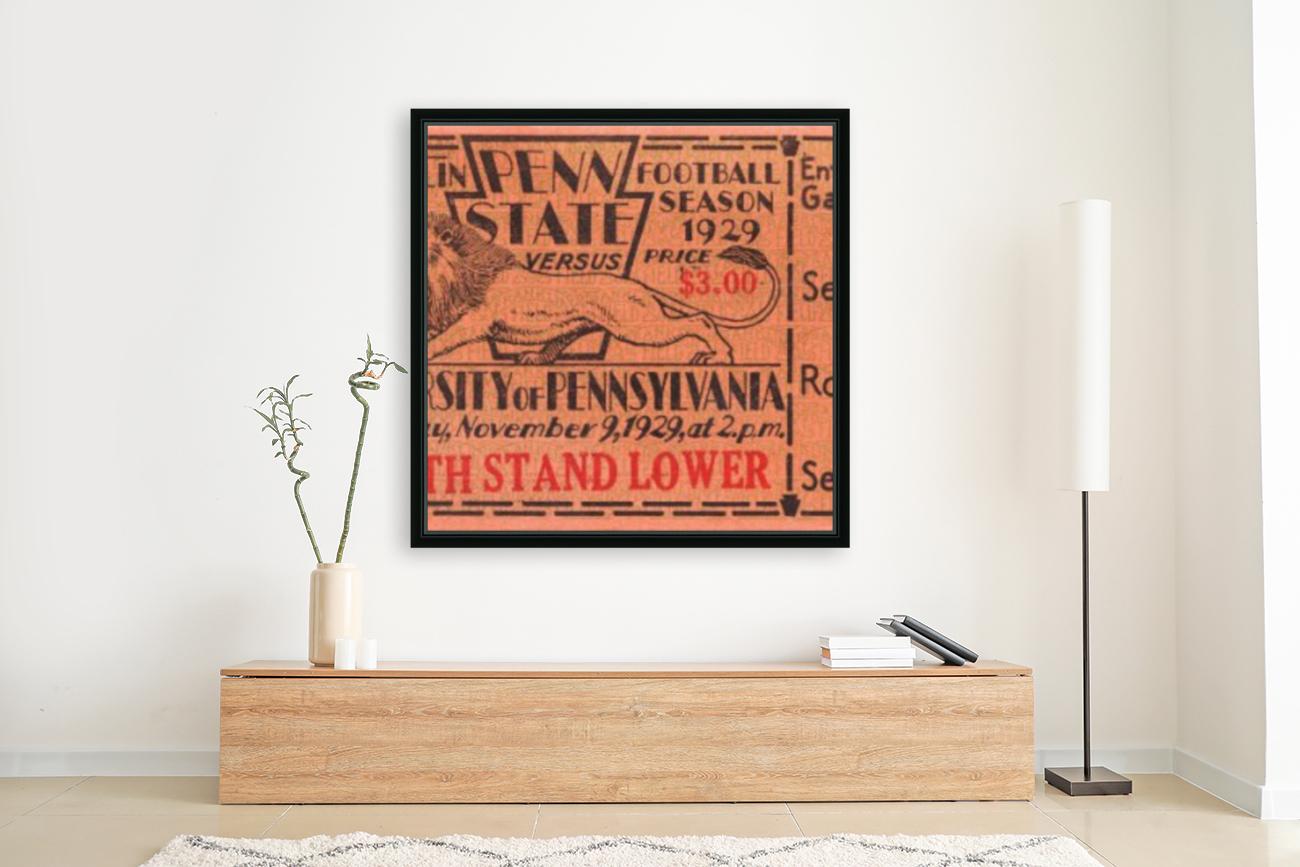 game room decor ideas 1929 pennsylvania penn state ticket canvas  Art