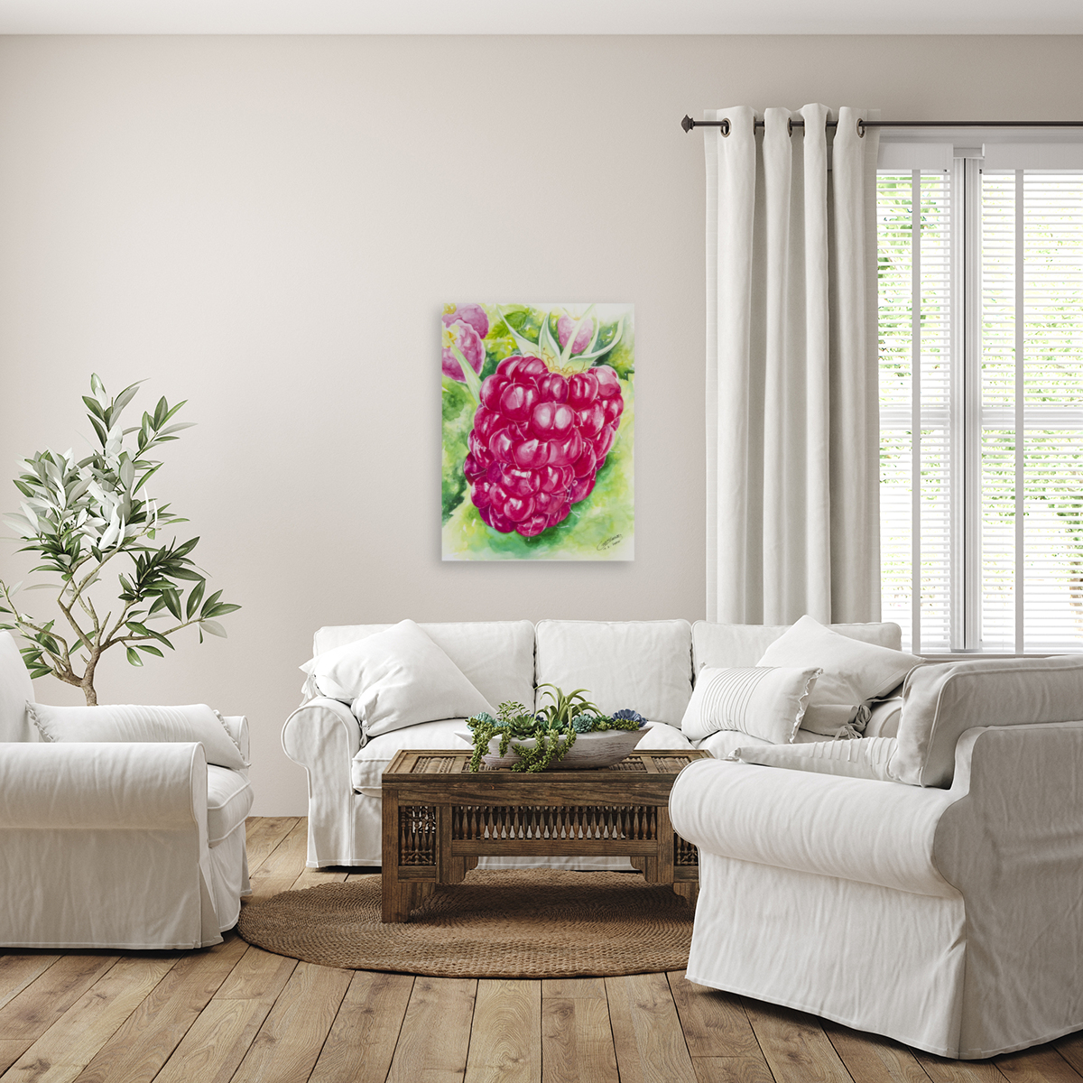 Summer Flavor: Raspberry I  Art