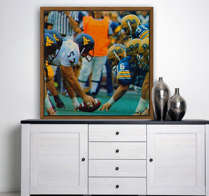 1981 College Football Photo West Virginia Pitt Panthers Wall Art with Floating Frame