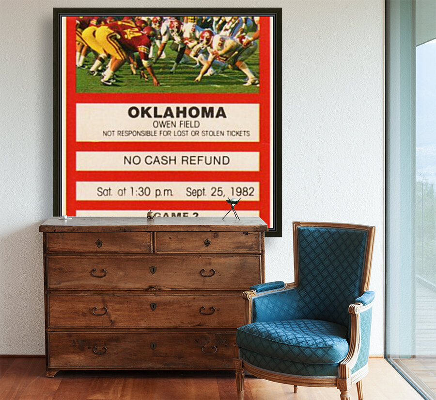 1982 USC vs. Oklahoma  Art