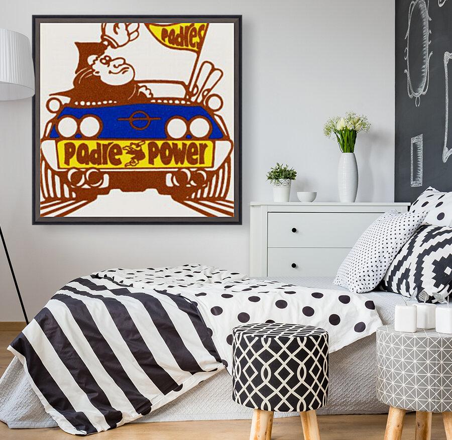 1976 padre power poster san diego  Art