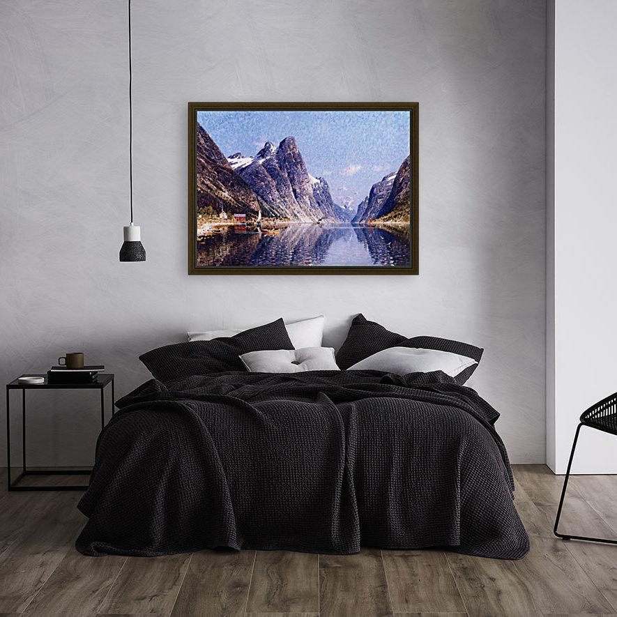 A Norwegian Fjord Scene  Art