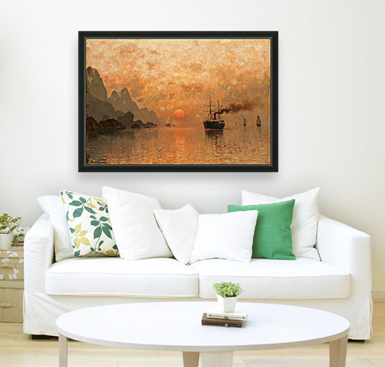 Ships in the Sunset  Art