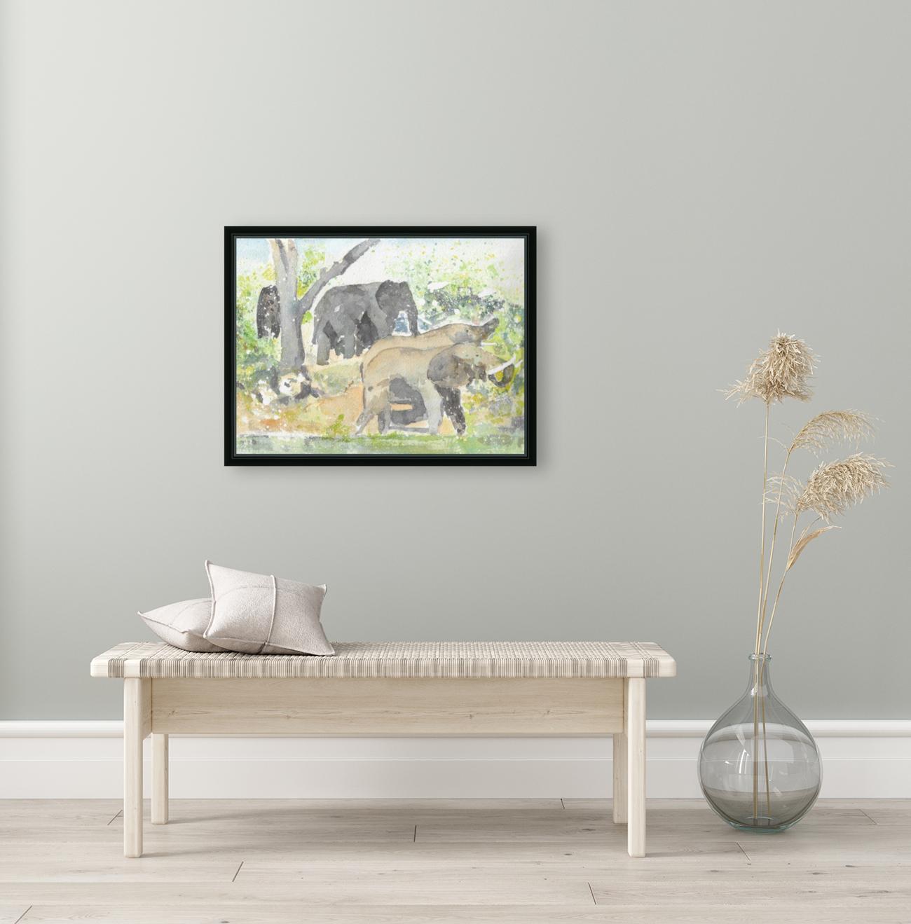 African Elephants 1  Art