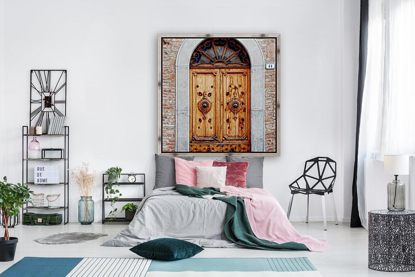 Ornate Wooden Door Citta della Pieve 1  Art