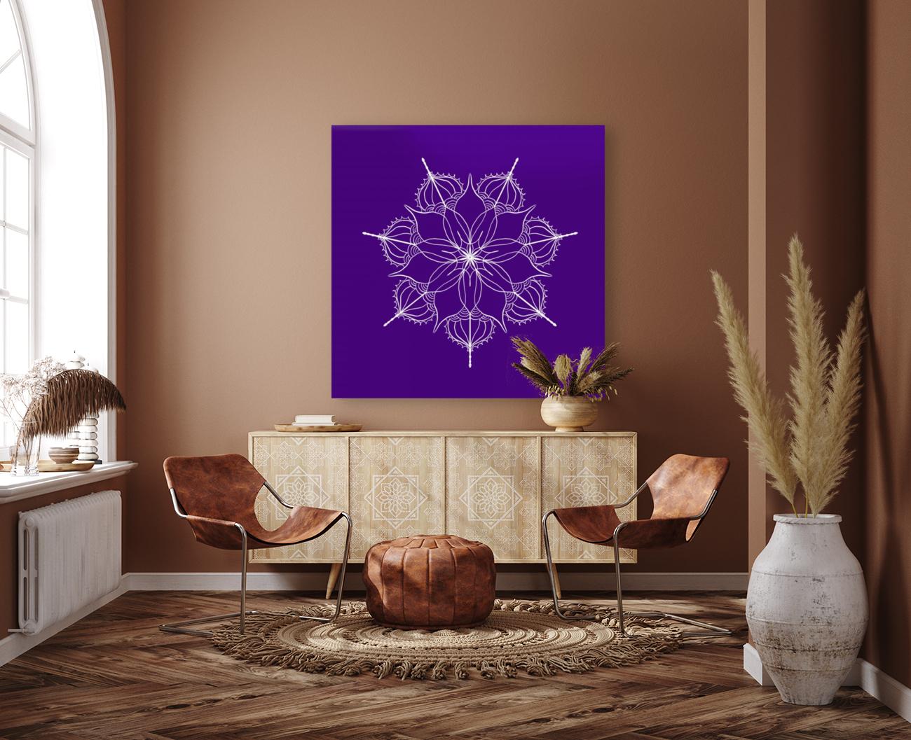 blue flower mandala  Art