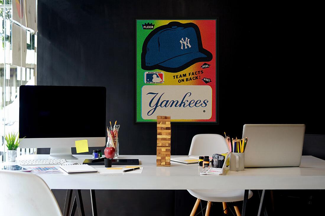 1982 fleer sticker new york yankees hat  Art