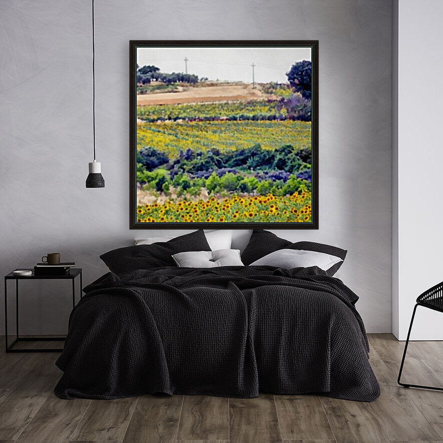 Sunflower Landscape  Art
