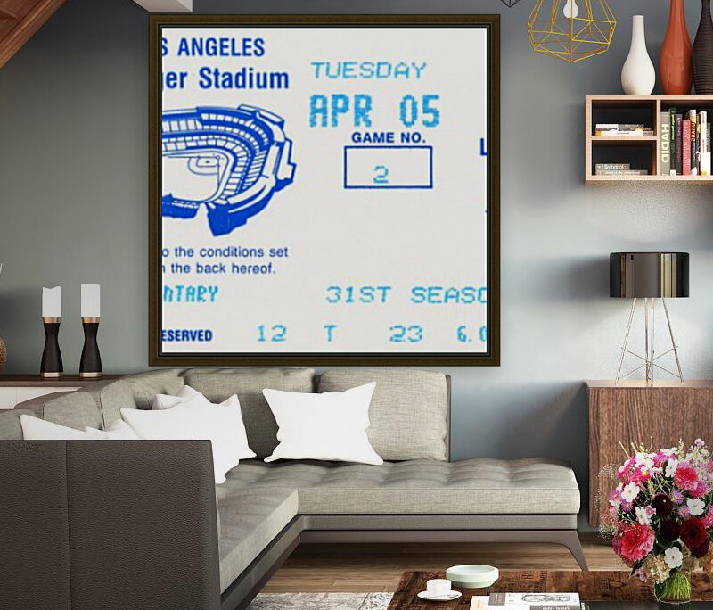 1988 la dodgers giants dodger stadium baseball ticket wall art sports gift  Art
